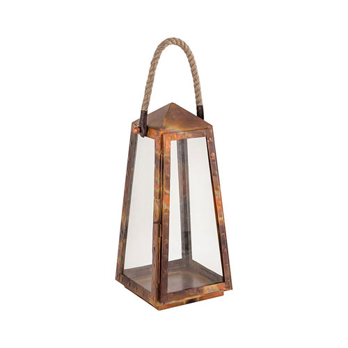 Levingston Burned Copper Seven-Inch Outdoor Lantern