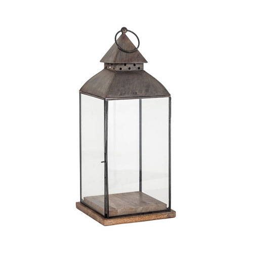 Rivera Antique Zinc Outdoor Lantern