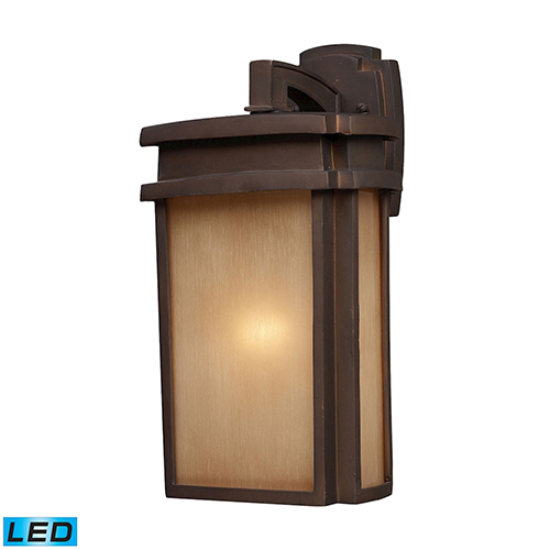 Sedona Clay Bronze Nine-Inch LED Outdoor Wall Sconce