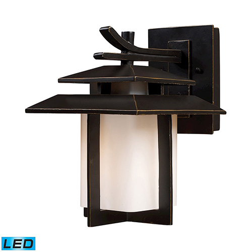 Kanso Hazelnut Bronze LED Outdoor Wall Sconce