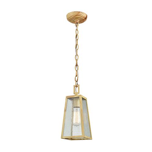 Mediterrano Birtchwood One-Light Outdoor Hanging Pendant