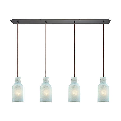 Weatherly Oil Rubbed Bronze 100W Four-Light Pendant