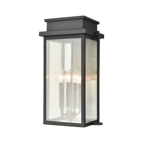 Braddock Architectural Bronze Four-Light Outdoor Wall Sconce