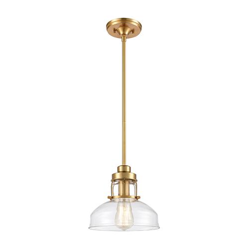 Manhattan Boutique Brushed Brass One-Light Mini Pendant