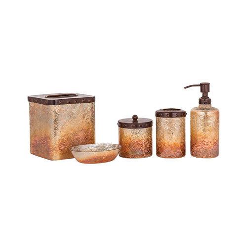 Telluride Artifact Multi-Colored Bath Accessory Set