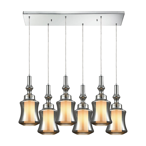 Alora Polished Chrome Six-Light Pendant