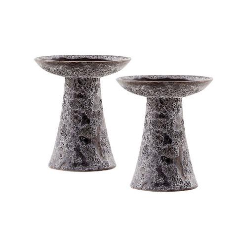 Pomeroy Lunetta Ancient Grey Garden Pillar, Set of Two