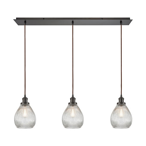 Jackson Oil Rubbed Bronze Three-Light Pendant