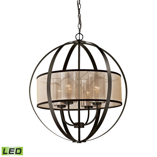 Diffusion Oil Rubbed Bronze LED Chandelier