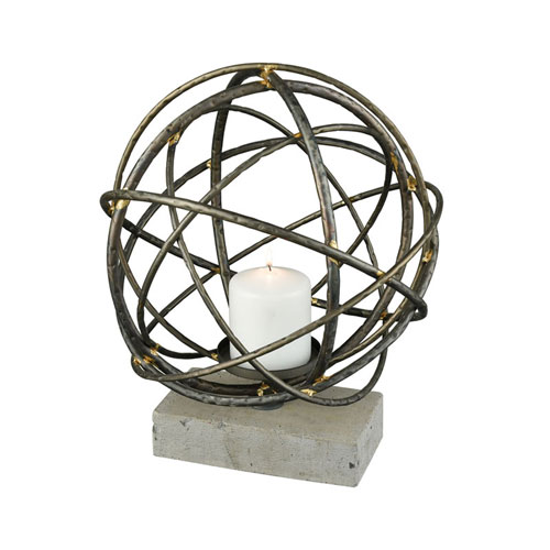 Atlas Graphite Candle Holder