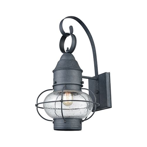 Aged Zinc One-Light Outdoor Wall Sconce