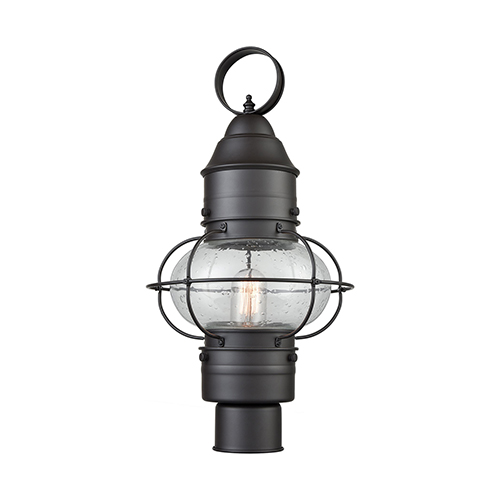 Oil Rubbed Bronze One-Light Outdoor Post Mount