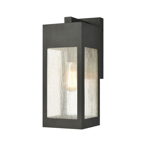 Angus Charcoal Seven-Inch One-Light Outdoor Wall Sconce