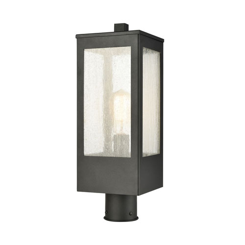 Angus Charcoal One-Light Outdoor Post Mount