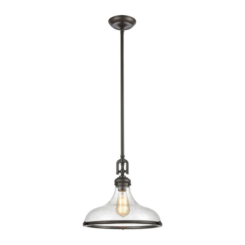 Rutherford Oil Rubbed Bronze One-Light Pendant
