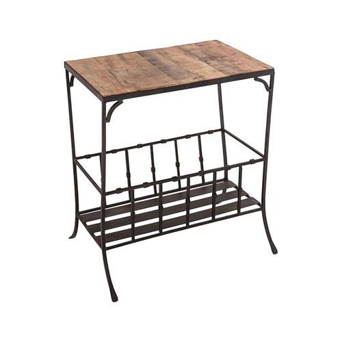 Highland Antique Zinc Side Table