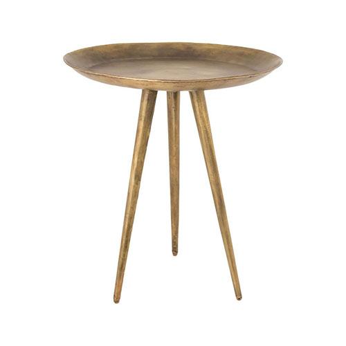 Tillbury Antique Brass Side Table