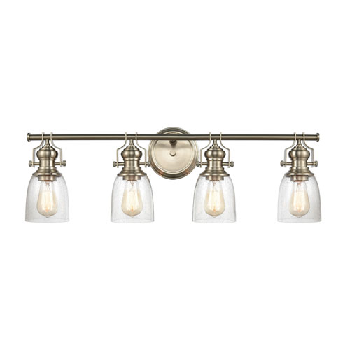 Chadwick Satin Nickel Four-Light Bath Vanity