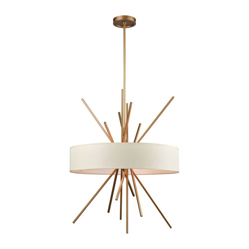 Xenia Matte Gold Five-Light Chandelier