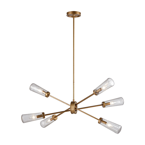 Xenia Matte Gold 42-Inch Six-Light Island Pendant
