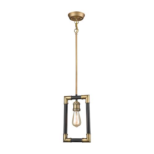 Lisbon Classic Brass and Oil Rubbed Bronze One-Light Mini Pendant