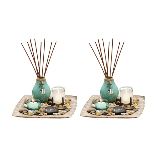 Reverie Multi-Colored Reed Garden, Set of Two