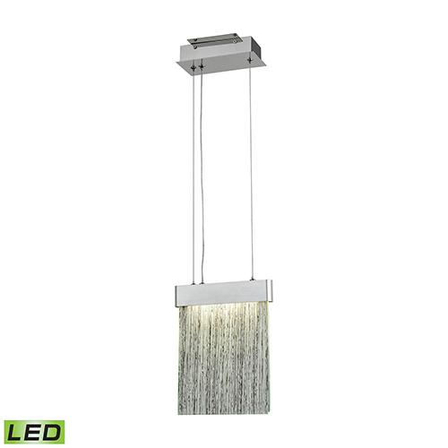 Meadowland Satin Aluminum and Polished Chrome LED Mini Pendant
