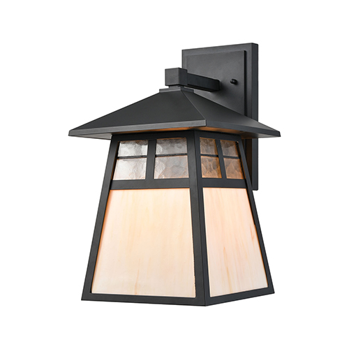 Cottage Matte Black One-Light Wall Sconce