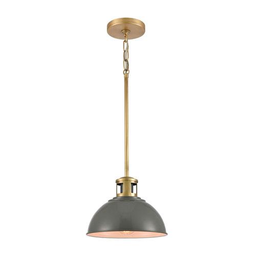 Lyndon Gray and Brass One-Light Pendant