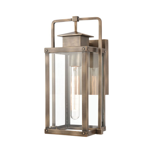 Crested Butte Vintage Brass Seven-Inch One-Light Outdoor Wall Sconce