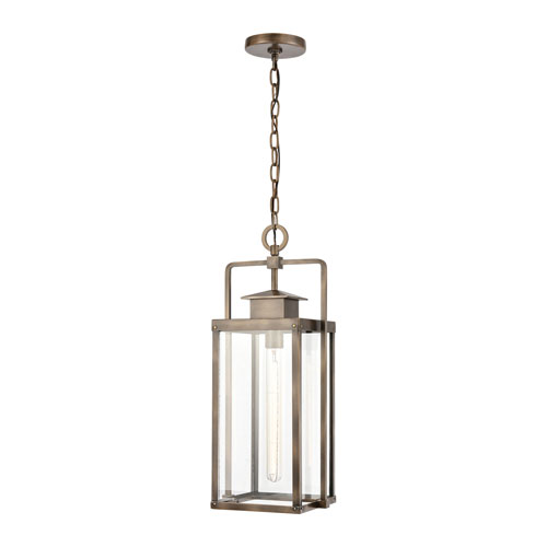 Crested Butte Vintage Brass One-Light Outdoor Pendant