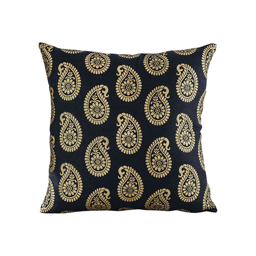 Paisley Black Accent Pillow