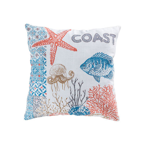 Great Reef Coral 20-Inch Accent Pillow