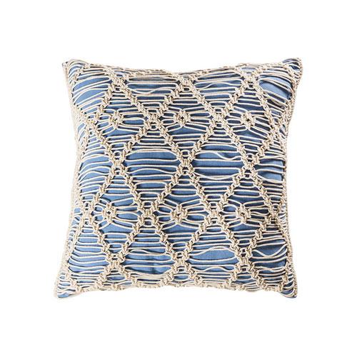 Hannah Blue Accent Pillow