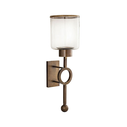 Pomeroy Bangle Antique Brass Candle Holder Wall Mount