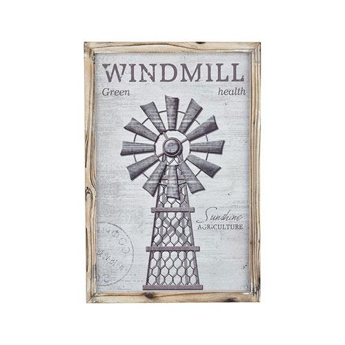 Pomeroy Weathered Grey Windy Farm 15-Inch Wall Art
