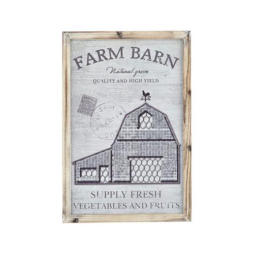 Pomeroy Weathered Grey Barn Life 15-Inch Wall Art