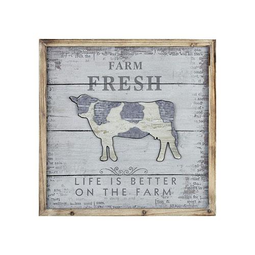 Weathered Grey Fresh Dairy 23-Inch Wall Art