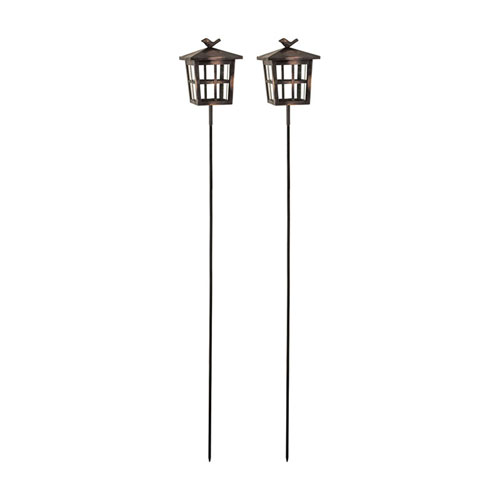 Woodlands French Antique Copper Garden Stake, Set of Two