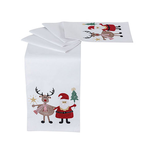 Pomeroy Santa and Friends Coco Table Runner