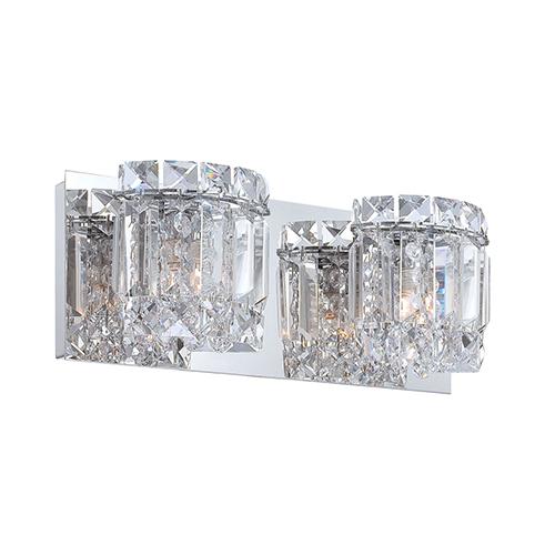 Dutchess Chrome Two-Light Vanity Light