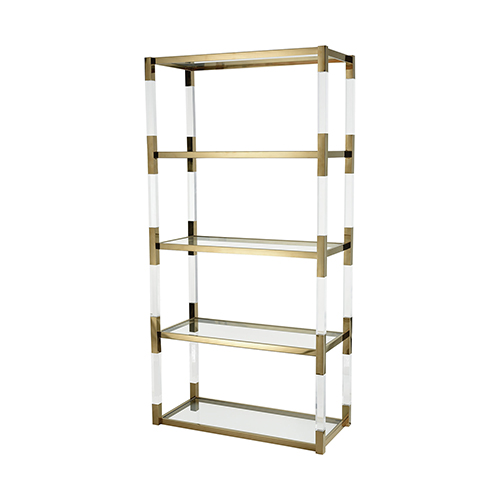 Equity Gold Plated Stainless Steel Bookcase