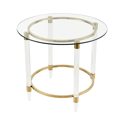 Pharoahs Chariot Gold Plated Accent Table