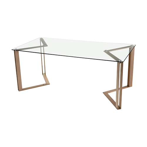 Acuity Rose Gold Dining Table
