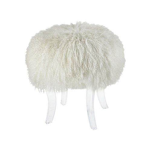 Dimond Home Hair Apparent White Stool