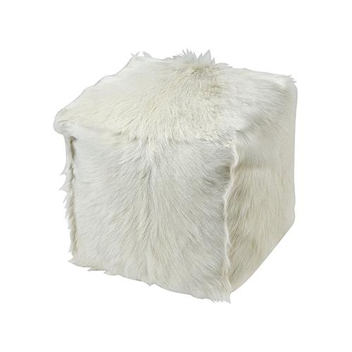 Bareback Pillow White Pillow Pouf