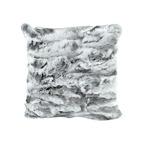 Gray and White Accent Pillow