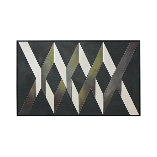 Handpainted Wall Art Gloss Black Intersections Wall Art