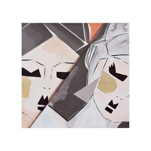 Dimond Home Handpainted Wall Art Gloss White Origami Ladies Wall Art