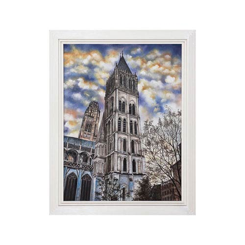 Dimond Home Handpainted Wall Art Gloss White Euro Cathedral Wall Art
